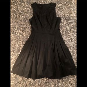 Talbots Black Flare Dress